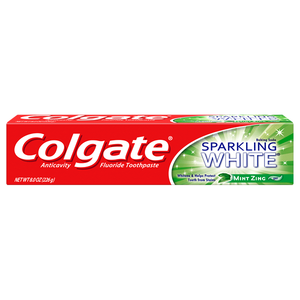 Colgate Baking Soda Sparkling White Mint Zing Gel (8 Oz)