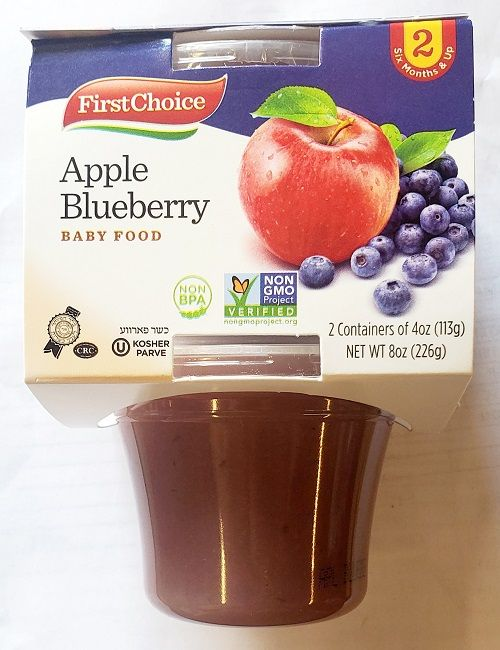 First Choice Apple Blueberry 4 Oz (10 X 2 Pack)