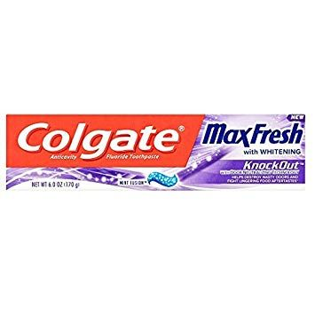 Colgate Maxfresh With Whitening Knockout Mint Fusion (6 Oz)