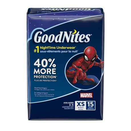 Goodnites Bedtime Pants XS (4 X 15 Ct)