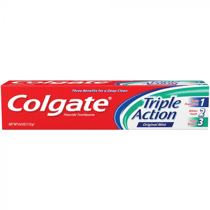 Colgate Triple Action Paste (4 Oz)