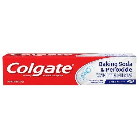 Colgate Baking Soda & Peroxide Whitening Brisk Mint (4 Oz)