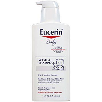 Eucerin Baby Wash & Shampoo Pump (13.5 Oz)