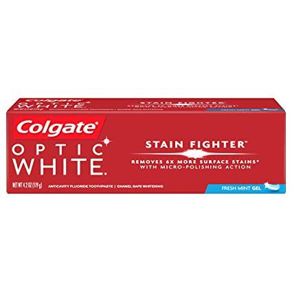 Colgate Optic White Stain Fighter Fresh Mint Gel (4.2 Oz)