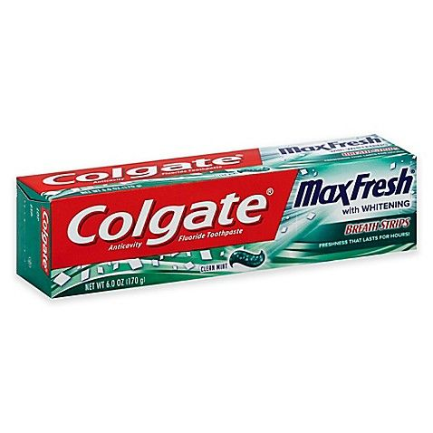 Colgate Maxfresh With Whitening Breathstrips Clean Mint (6 Oz)