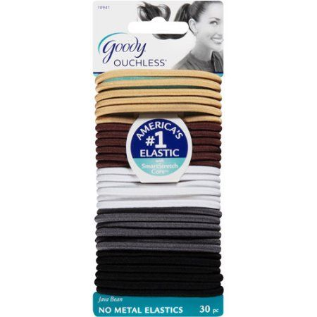 Goody Womens Ouchless Braided Medium Hair  (30 Ct)