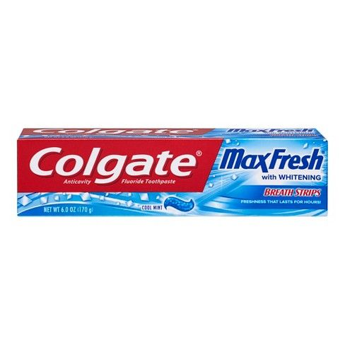 Colgate Maxfresh With Whitening Breathstrips Cool Mint (6 Oz)