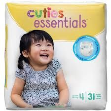 Cuties Diapers Size 4 (31 Ct)