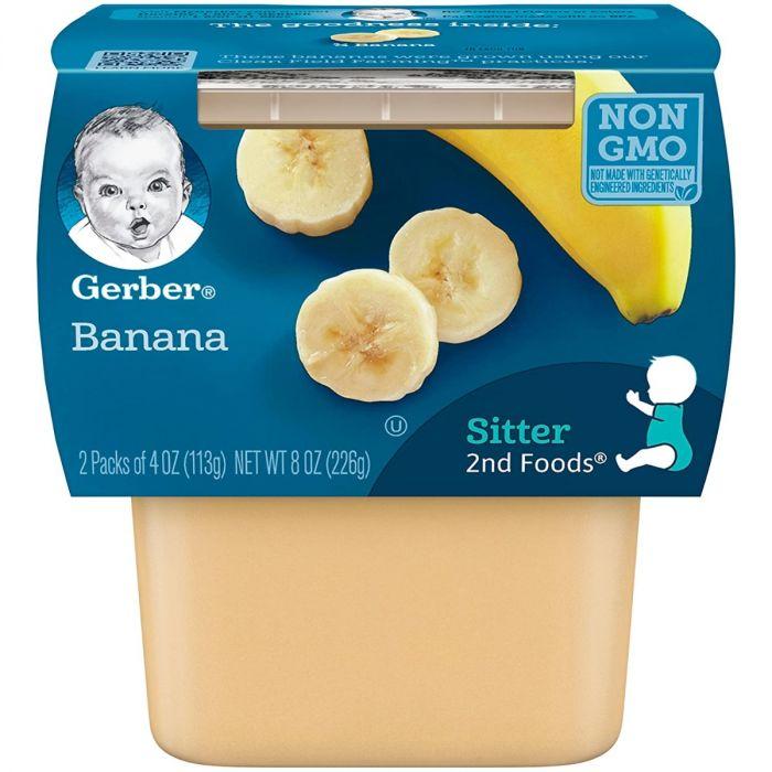 Gerber Banana 8 Pack (2 X 4 Oz)