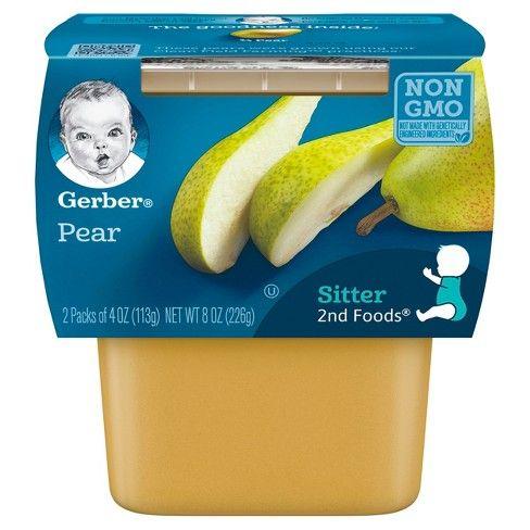 Gerber Pears 8 Pack (2 X 4 Oz)