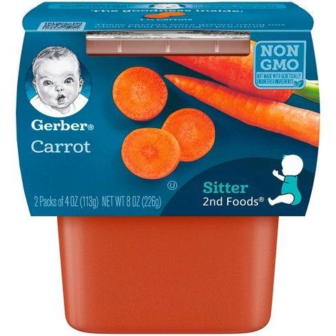 Gerber Carrot 8 Pack (2 X 4 Oz)