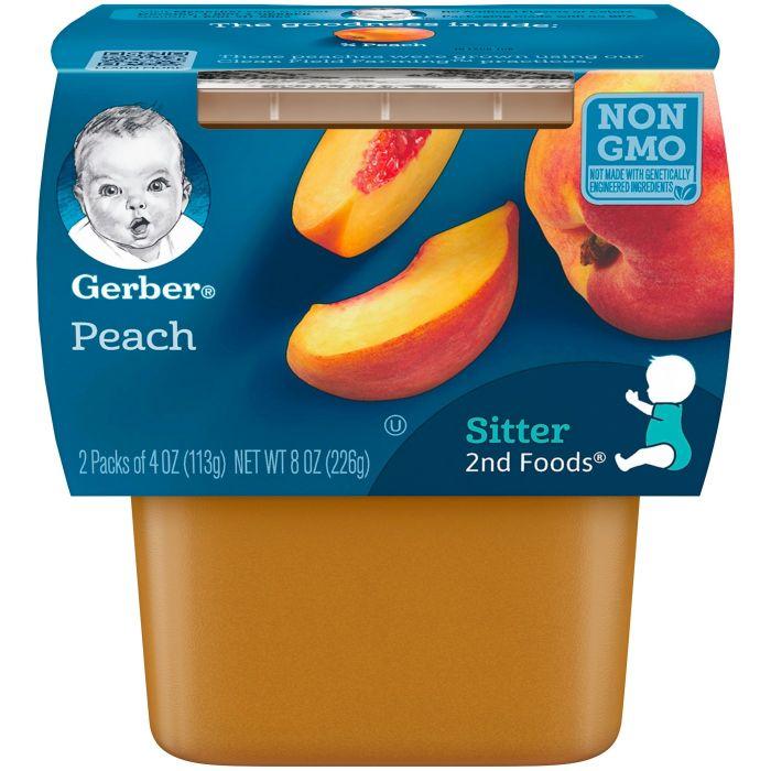 Gerber Peach 8 Pack (2 X 4Oz)