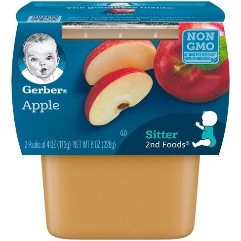 Gerber Apples 8 Pack (2 X 4 Oz)