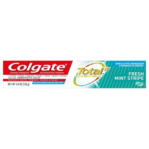 Colgate Total Fresh Mint Stripe Gel (4.8 Oz)