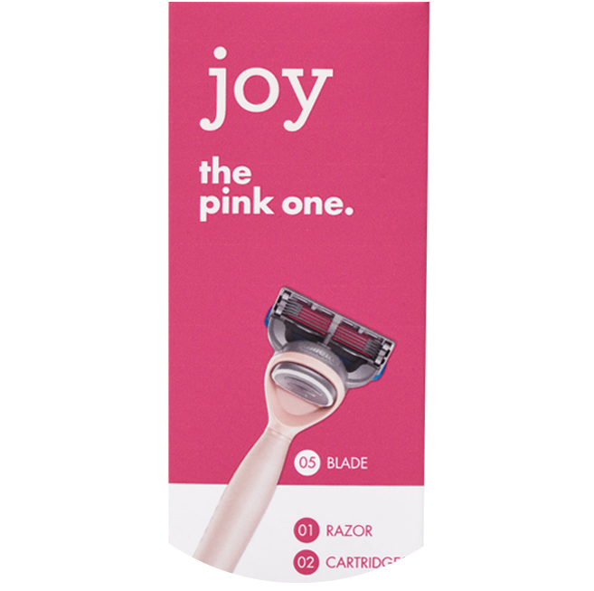 Joy, The Pink One, Handle + 2 Razor Blade Refills