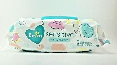 Pampers Wipes Sensitive Perfume Free (72 Ct)