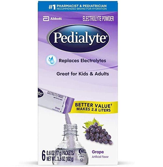 Pedialyte Electrolyte Powder Grape (6 X 3.2 Oz)