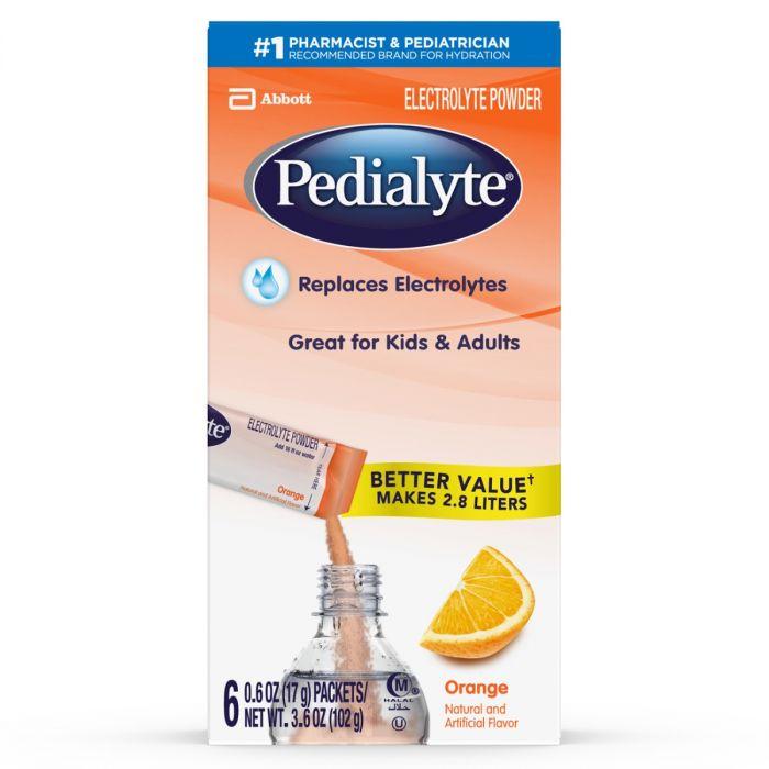 Pedialyte Electrolyte Powder Orange (6 X 0.6 Oz)