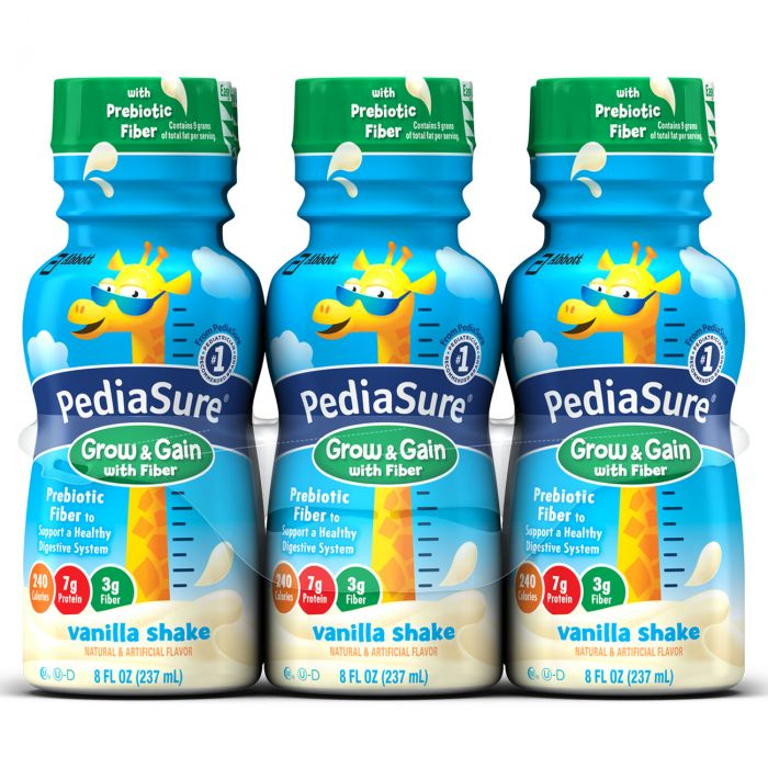 Pediasure W/ Fiber, Vanilla Shake 8 Oz (4 X 6 Pack)