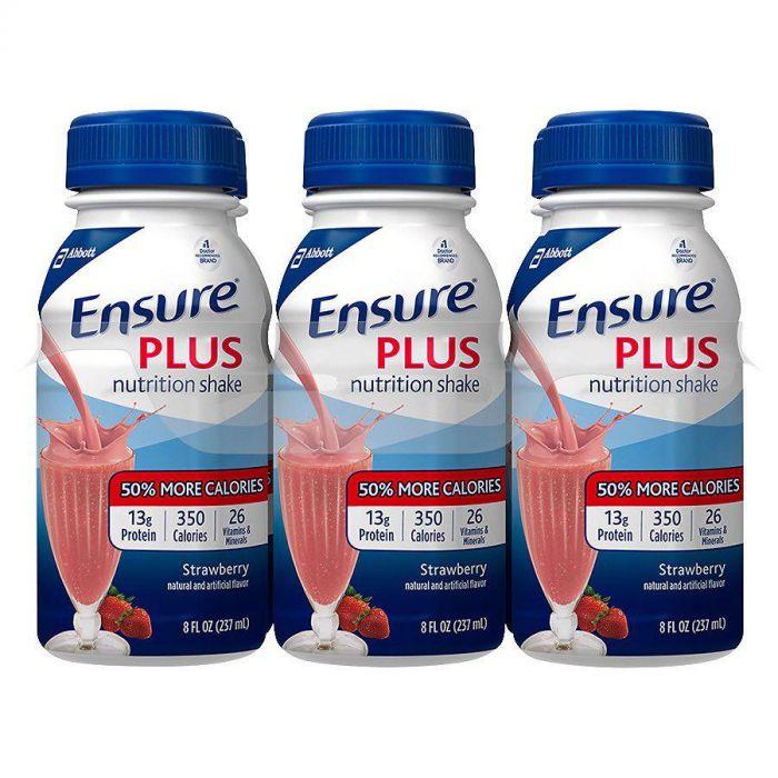 Ensure Plus Strawberry 8 Oz (4 X 6 Pack)