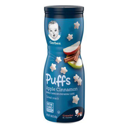 Gerber Puffs Apple Cinnamon Cereal Snack  (6 X 1.48 Oz)