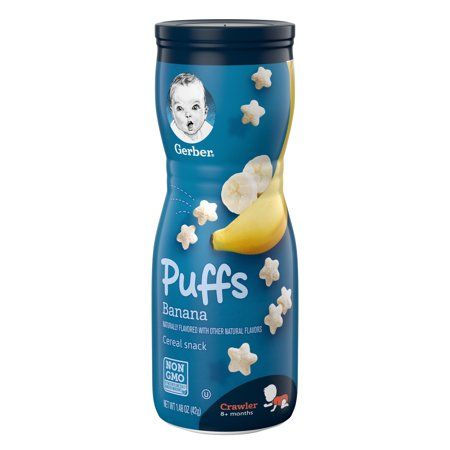 Gerber Puffs Banana Cereal Snack  (6 X 1.48 Oz)