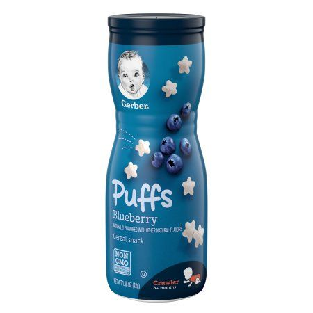 Gerber Puffs Blueberry Cereal Snack (6 X 1.48 Oz)