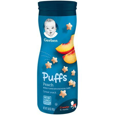 Gerber Puffs Peach Cereal Snack  (6 X 1.48 Oz)