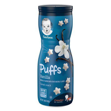 Gerber Puffs Vanilla Cereal Snack (6 X 1.48 Oz)