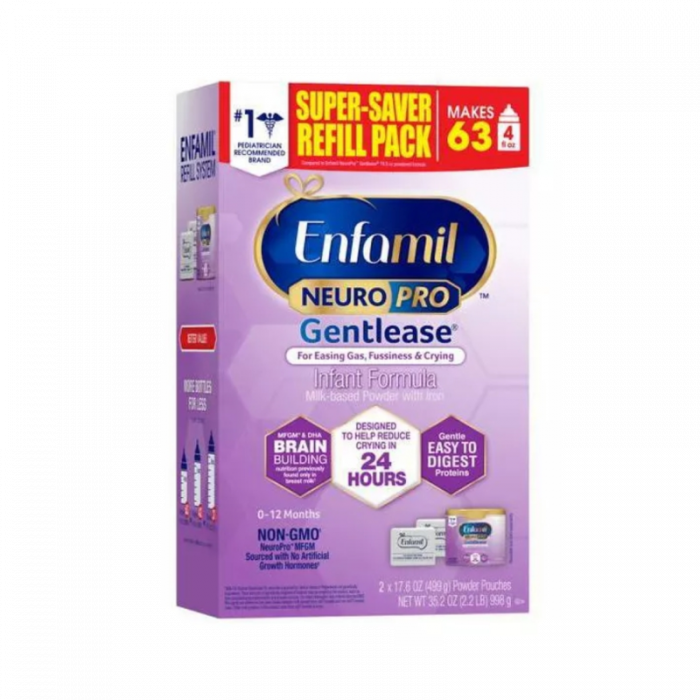 Enfamil Neuropro Gentlease Refill Box (2 X 17.6 Oz)