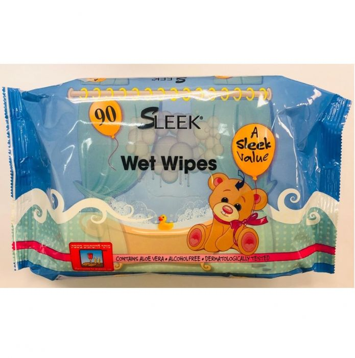 Sleek Wet Wipes (90 Ct)