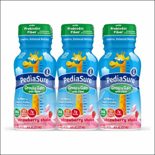 Pediasure W/ Fiber, Strawberry Shake 8 Oz (4 X 6 Pck)