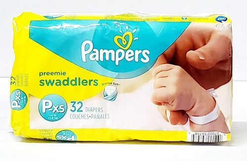 Pampers Swaddlers Preemie XS (32 Ct)