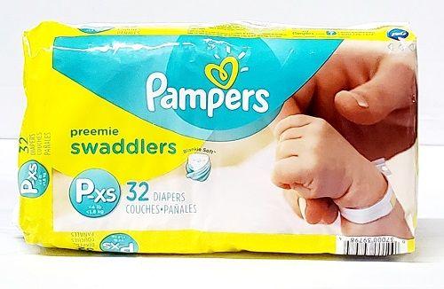 Pampers Swaddlers Preemie XS (32 Ct)