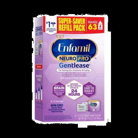 Enfamil Neuropro Gentlease Refill Box (2 X 17.6 Oz)